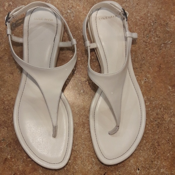 cfe78f75a Cole Haan Shoes - Cole Haan Nike Air White Thong Flat Sandal